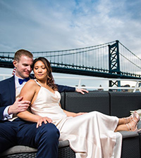 Maried couple on boat